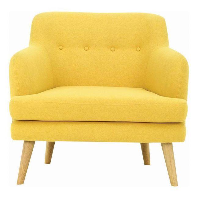 EXELERO Single Seater Sofa   Yellow