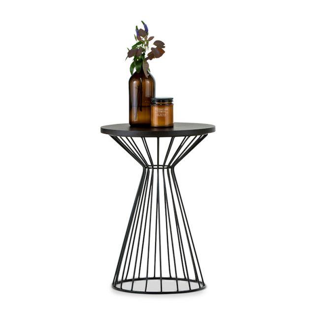 Fabiano Round Side Table | Black Oak