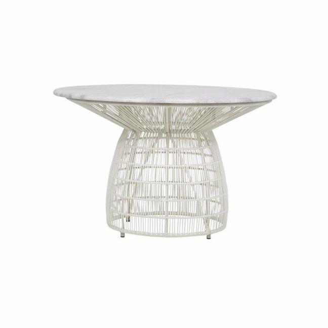 Fenton & Fenton | Malibu Outdoor Dining Table | White
