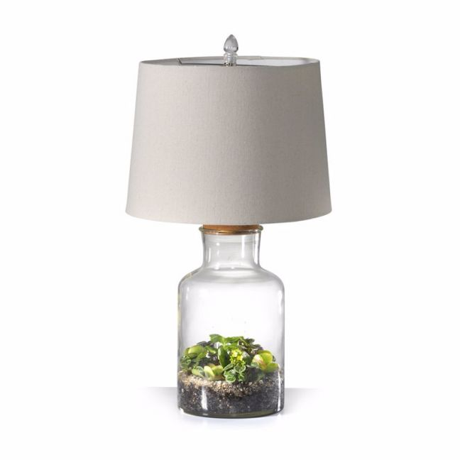Fillable Jar Lamp With Oatmeal Shade | 3 Size Options | by Black Mango