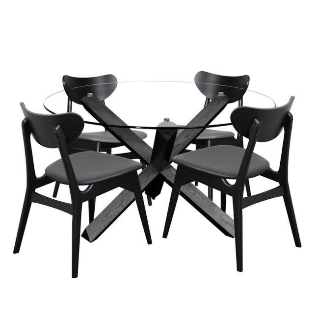 Fin Dining Chair | Black Frame | Bohemio Furniture