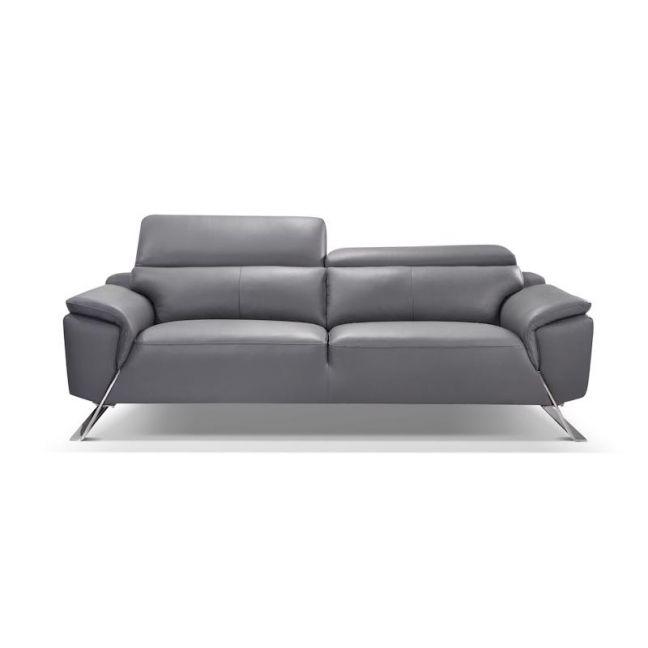Firenze Leather Sofa 3 Seater | Graphite