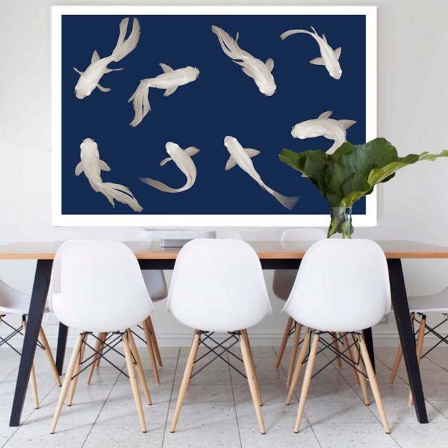Fish Love   Canvas Art