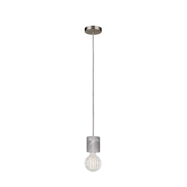 Flair 1 Light Pendant in Grey Marble | By Beacon Lighting