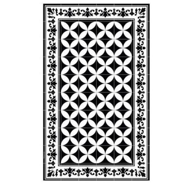Floor Mat Sofi Black and White