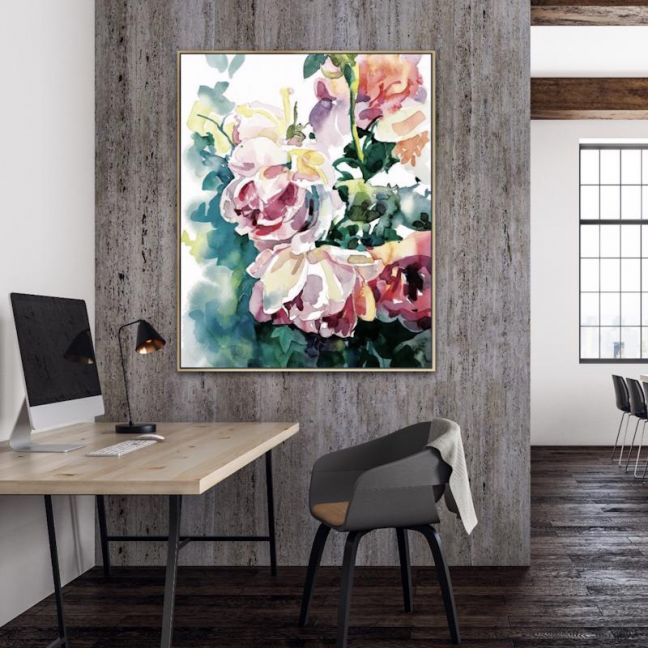 Floral Bouquet | Framed Canvas Print | Various Sizes | by Karena Kotsi