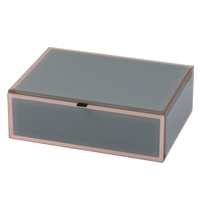Florence Jewellery Box | Glass | Grey | Medium | One Six Eight London