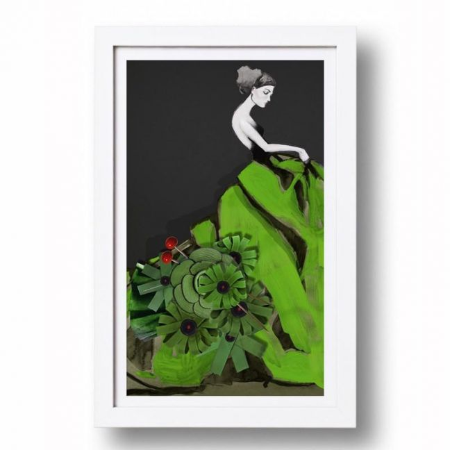 Forest Green Girl | Signed, limited edition | Full size print