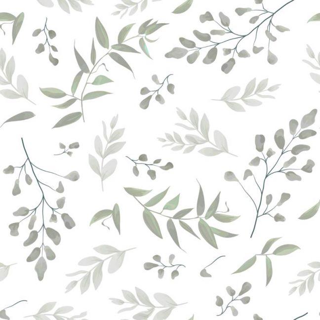 Forest Leaves Sage Wallpaper