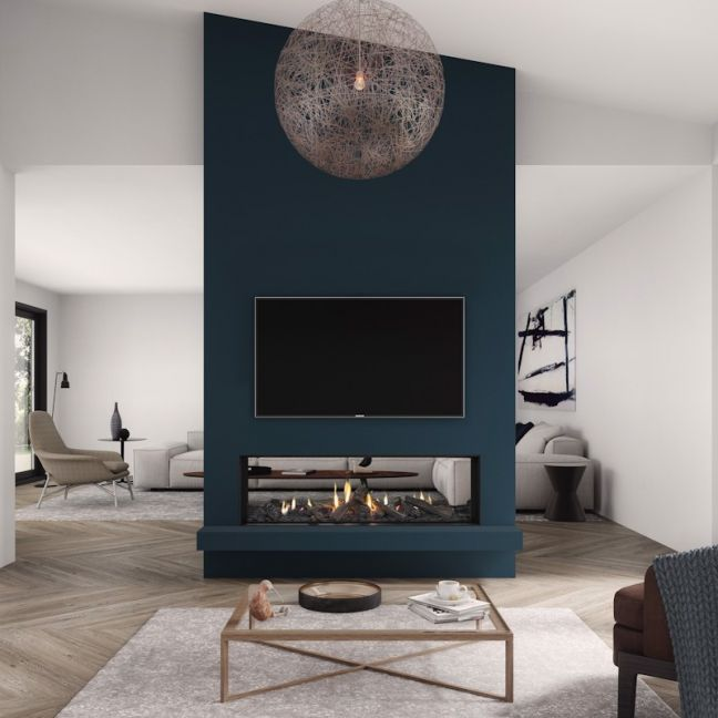 Frameless Gas Fireplaces | DS Series | DS1400 Double Sided
