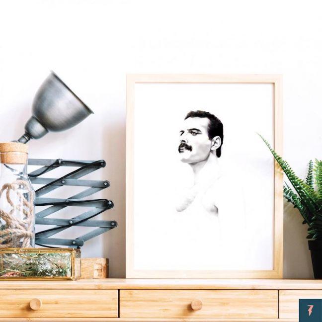 Freddie Mercury   Queen   Art Print