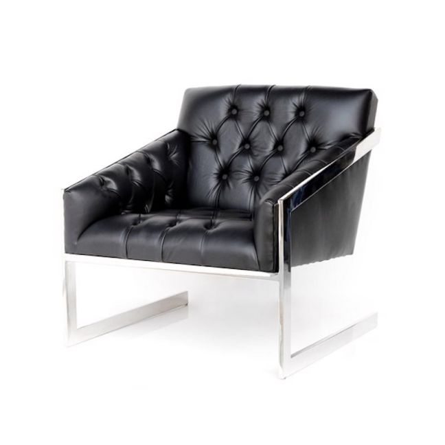 Frederika Black Chesterfield Floating Back Armchair | by Cocolea Furniture