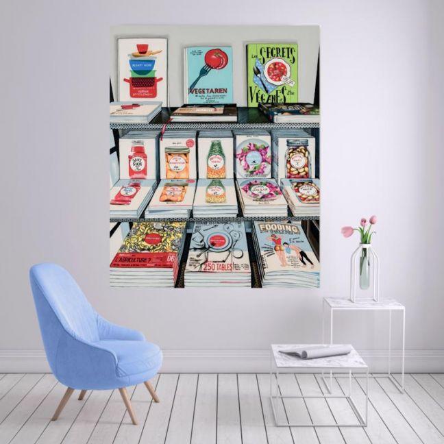 French Cookbooks | C7014 | Stretched Canvas | Colour Clash Studio