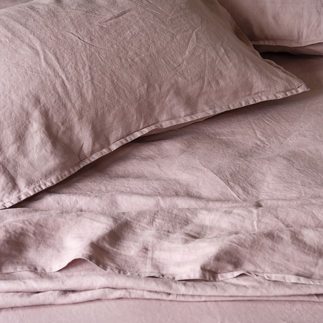 French Linen Pillowslip Pairs by Bedtonic | Dusky Rose