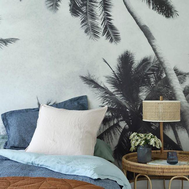 French Linen Seafoam + Chambray | Reversible Duvet Set by Bedtonic