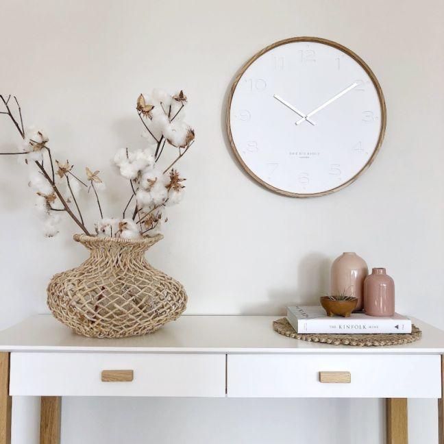 Freya -  50cm White Wall Clock