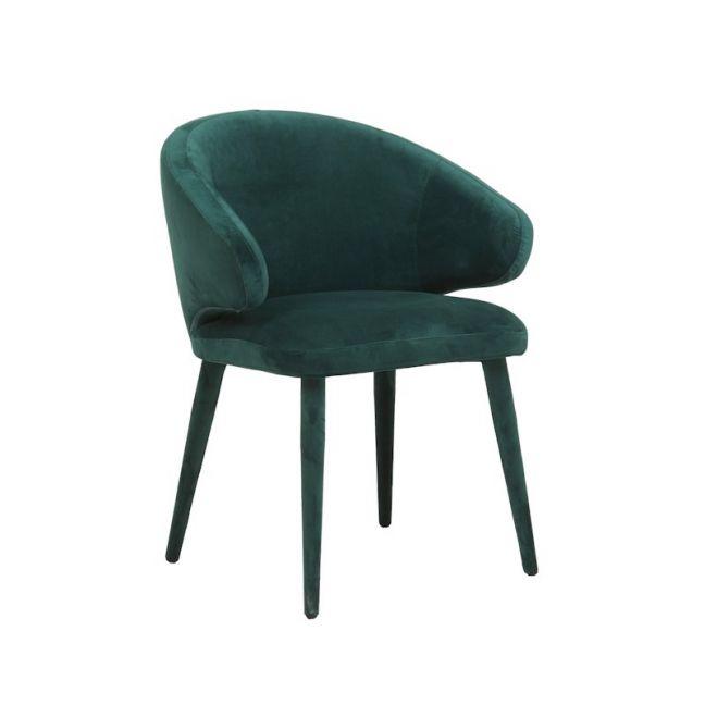 Freya Arm Chair | Dark Green Velvet