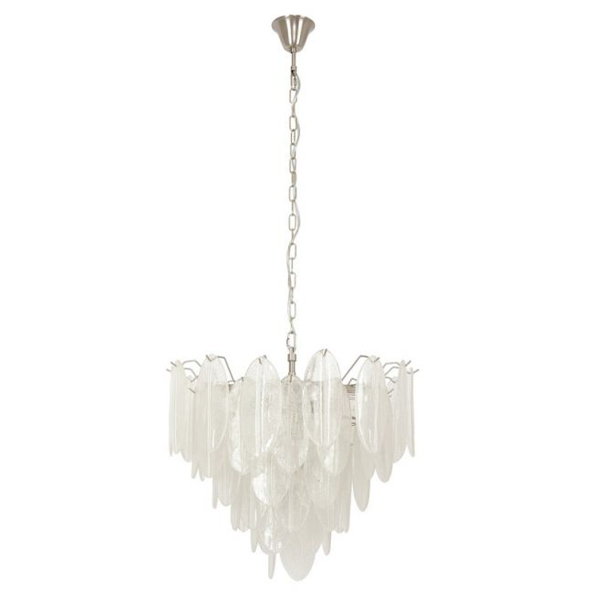 Frost 10 Light Chandelier in Brushed Chrome