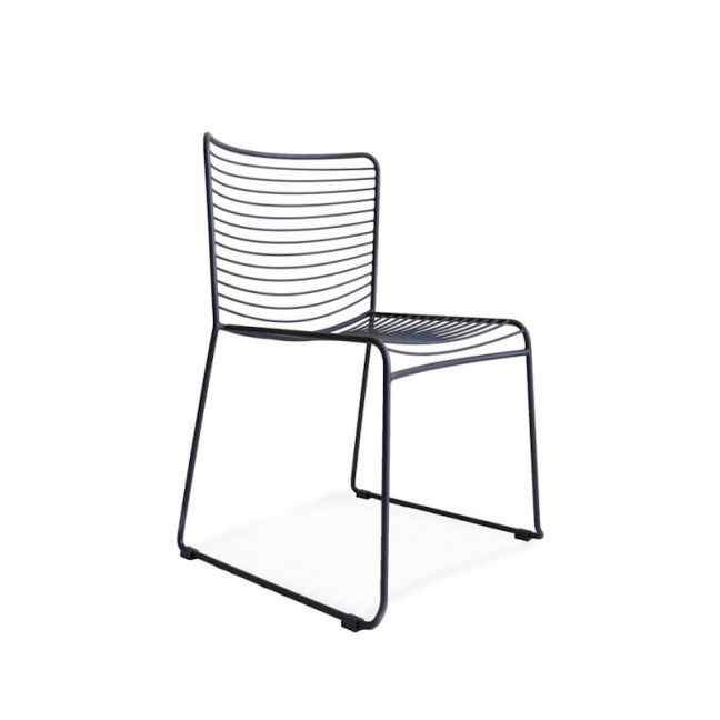 Gallery Wire Stackable Dining Chair Black   Set of 2   by Black Mango