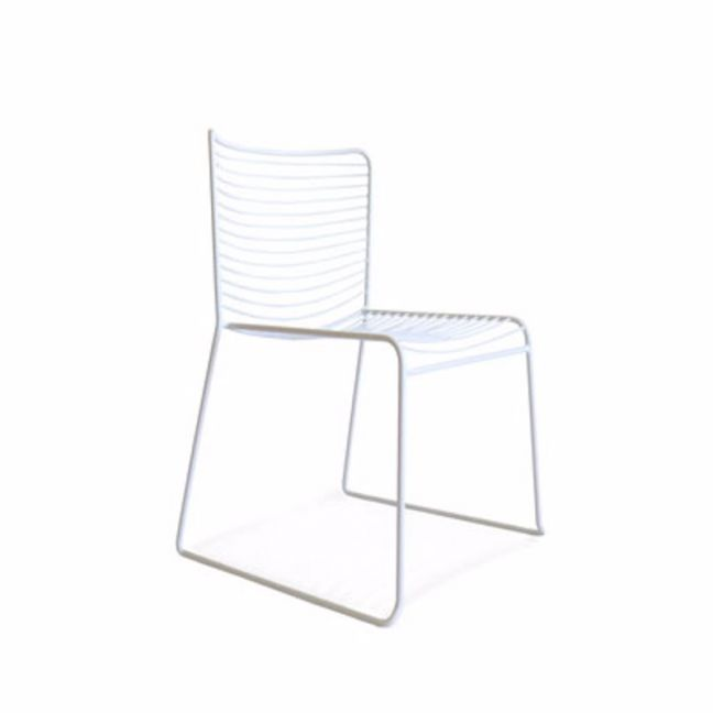 Gallery Wire Stackable Dining Chair White | Set of 2 | by Black Mango