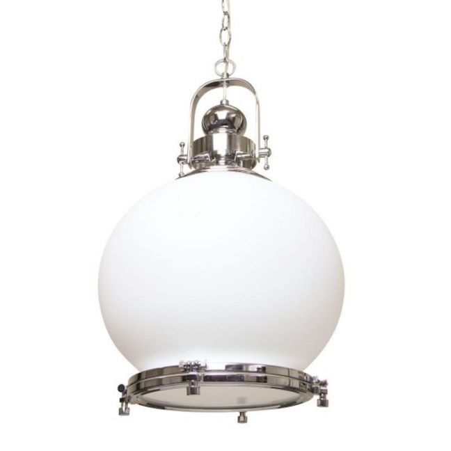Gelos Round Pendant Light | Clear Chrome