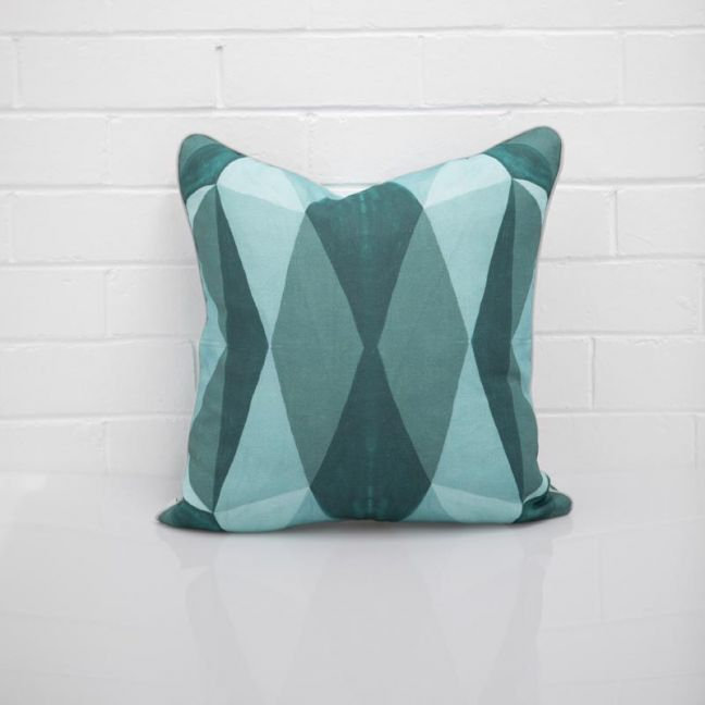 Geo Teal Cushion I Jak & Co Design