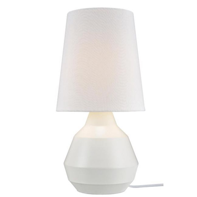 Geo Touch Lamp in White   By Beacon Lighting