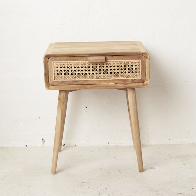 Gil Rattan Bedside Table l Custom Made