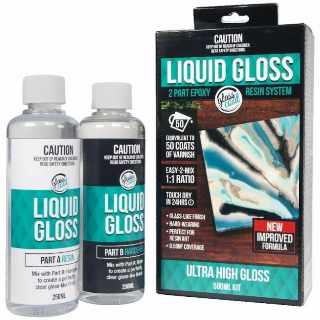 Glass Coat Liquid Gloss 2 Part Resin Kit | 500ml
