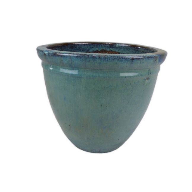 Glazed Pot Green