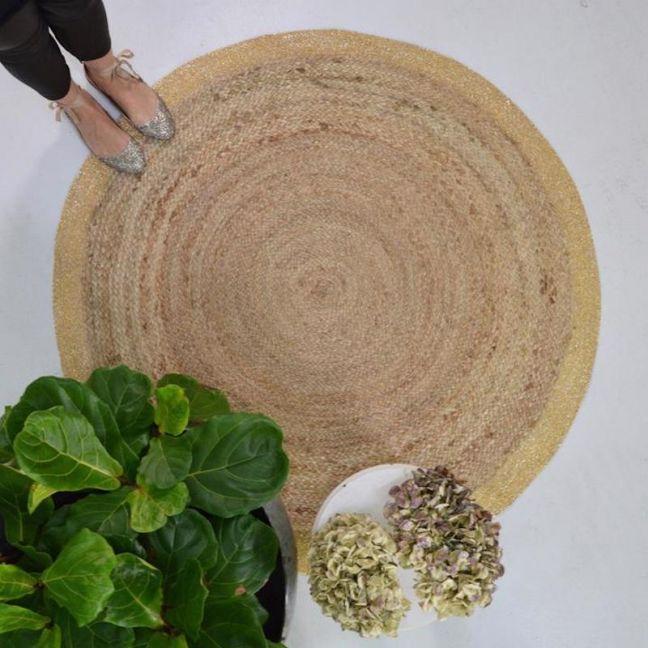 Golden Rimmed Floor Rug