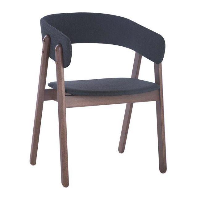 Goldy Dining Chair | Walnut/Dark Grey