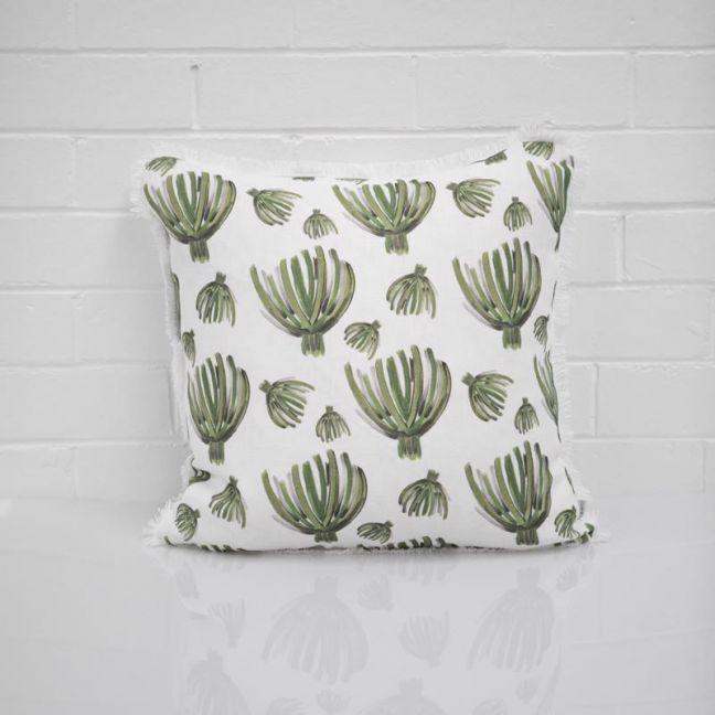 Green Palm Cushion I Jak & Co Design