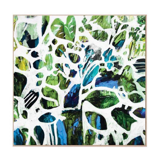 Green Tangle | Framed Canvas Art