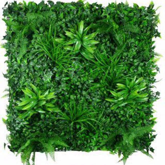Green Tropics Vertical Garden   Green Wall UV Resistant   1m x 1m