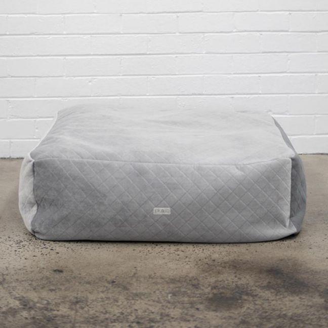 Grey Diamonds Velvet Floor Cushion Cover I Jak & Co Design