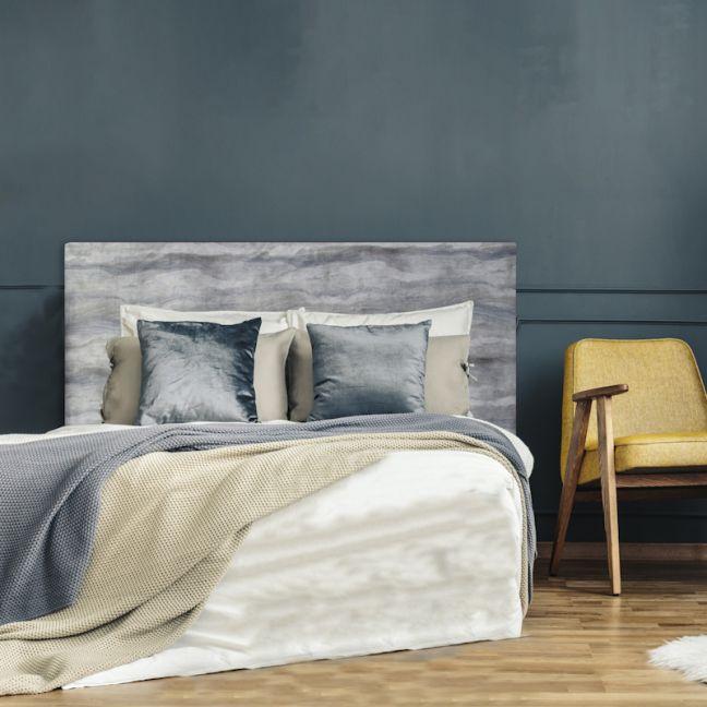 Grey Marble Velvet Upholstered Bedhead | All Sizes | Custom Made by Martini Furniture
