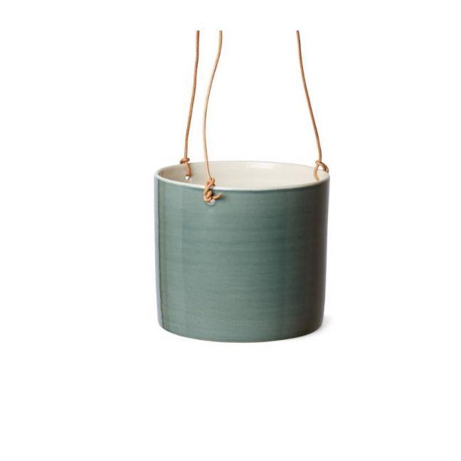 Grow | Petrol Green Hanging Flower Pot | Various Sizes | Anne Black
