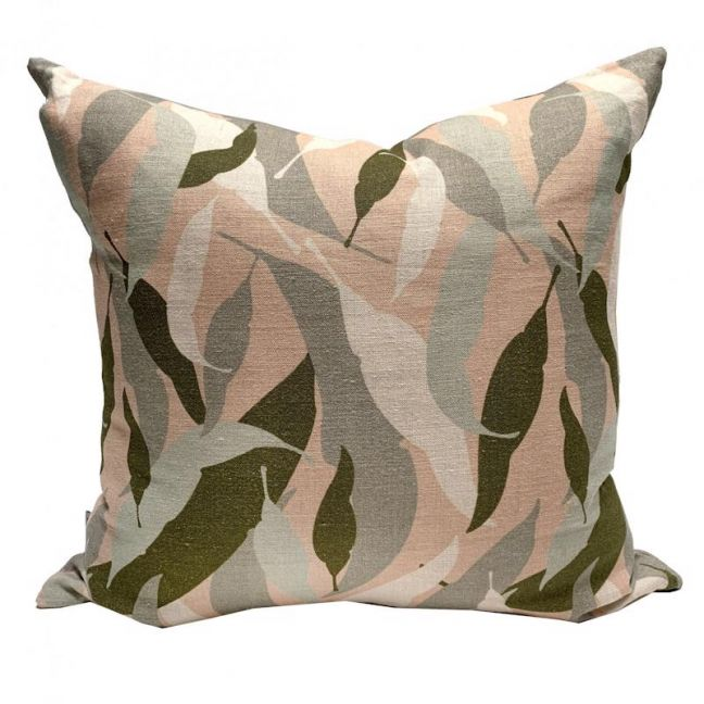 Gumleaf Camouflage Linen Cushion | By Tim Neve