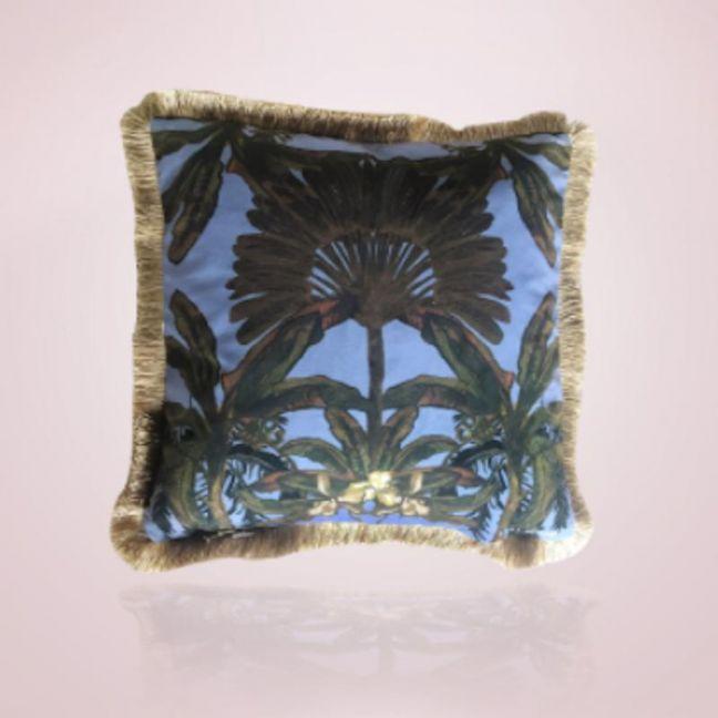 Gypsy Palm Cushion | 45cm Blue