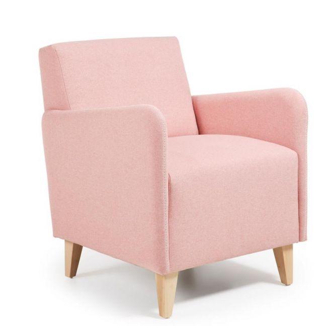 Haddie Upholstered Armchair | Blush Pink