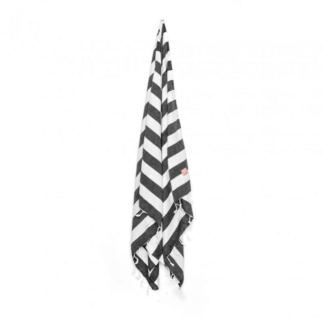 HAF Bath & Beach Towel | Black & White
