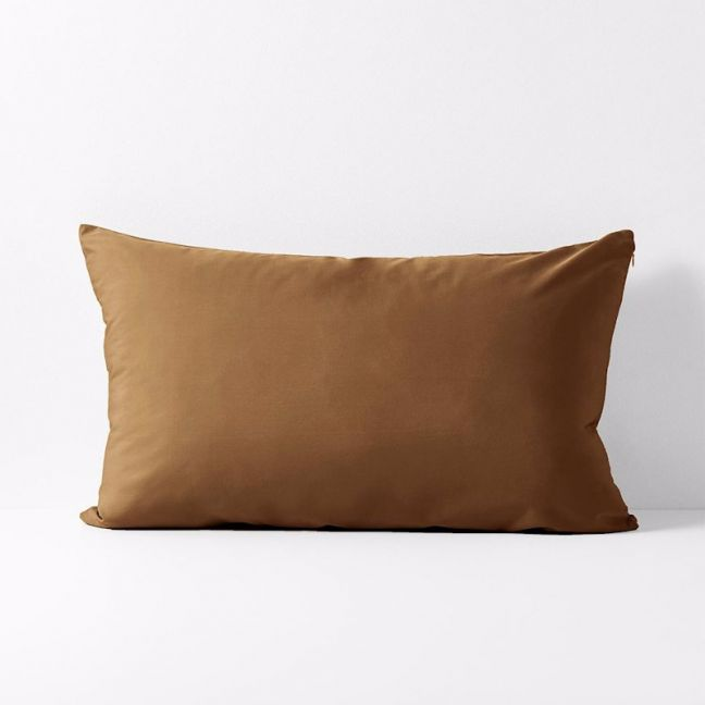 Halo Organic Cotton Standard Pillowcase | Tobacco | by Aura Home