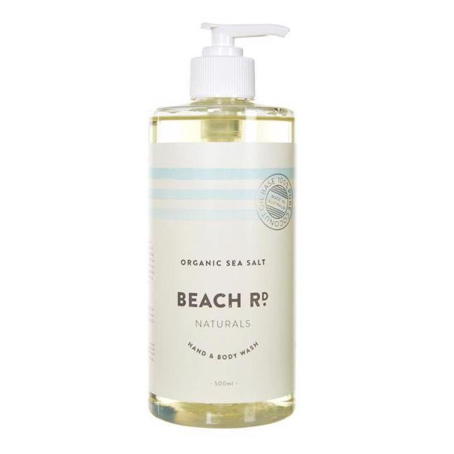 Hand & Body Wash | Organic Sea Salt | 500ml | by Beach Road Naturals