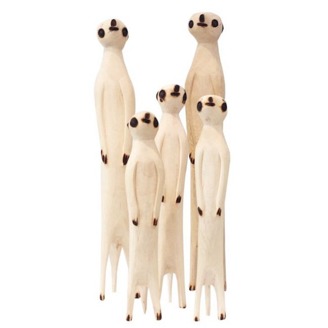Hand Carved Meerkat   by Raw Decor   PRE ORDER