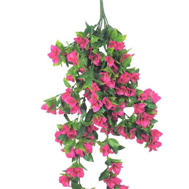 Hanging Artificial Bougainvillea Plant | Pink & Lilac | UV Resistant