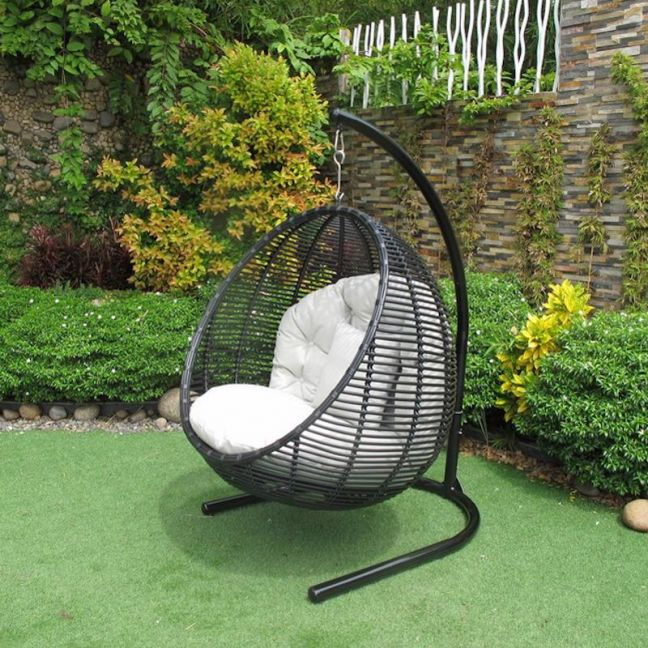Hanging Chair Black Outdoor
