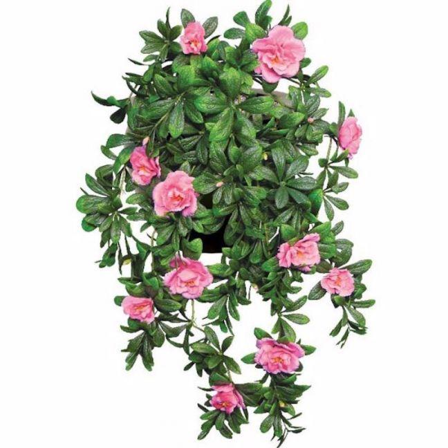 Hanging Pink Rose Stem   UV Resistant   85cm