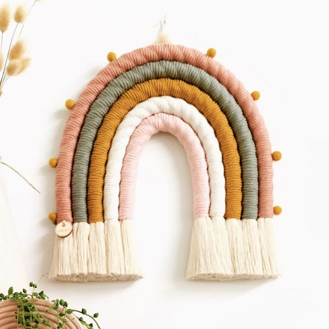Harmony | Handmade Rope Rainbow Wallhanging