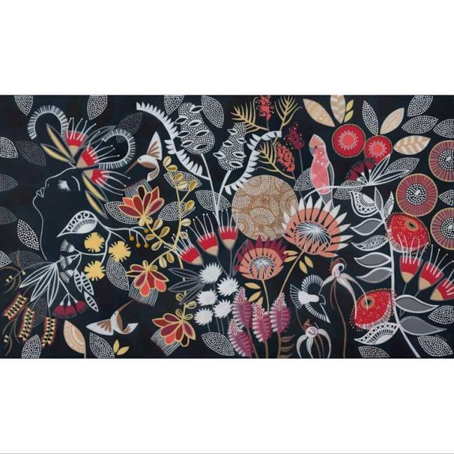 Headful of Flowers | Stretched Canvas Print